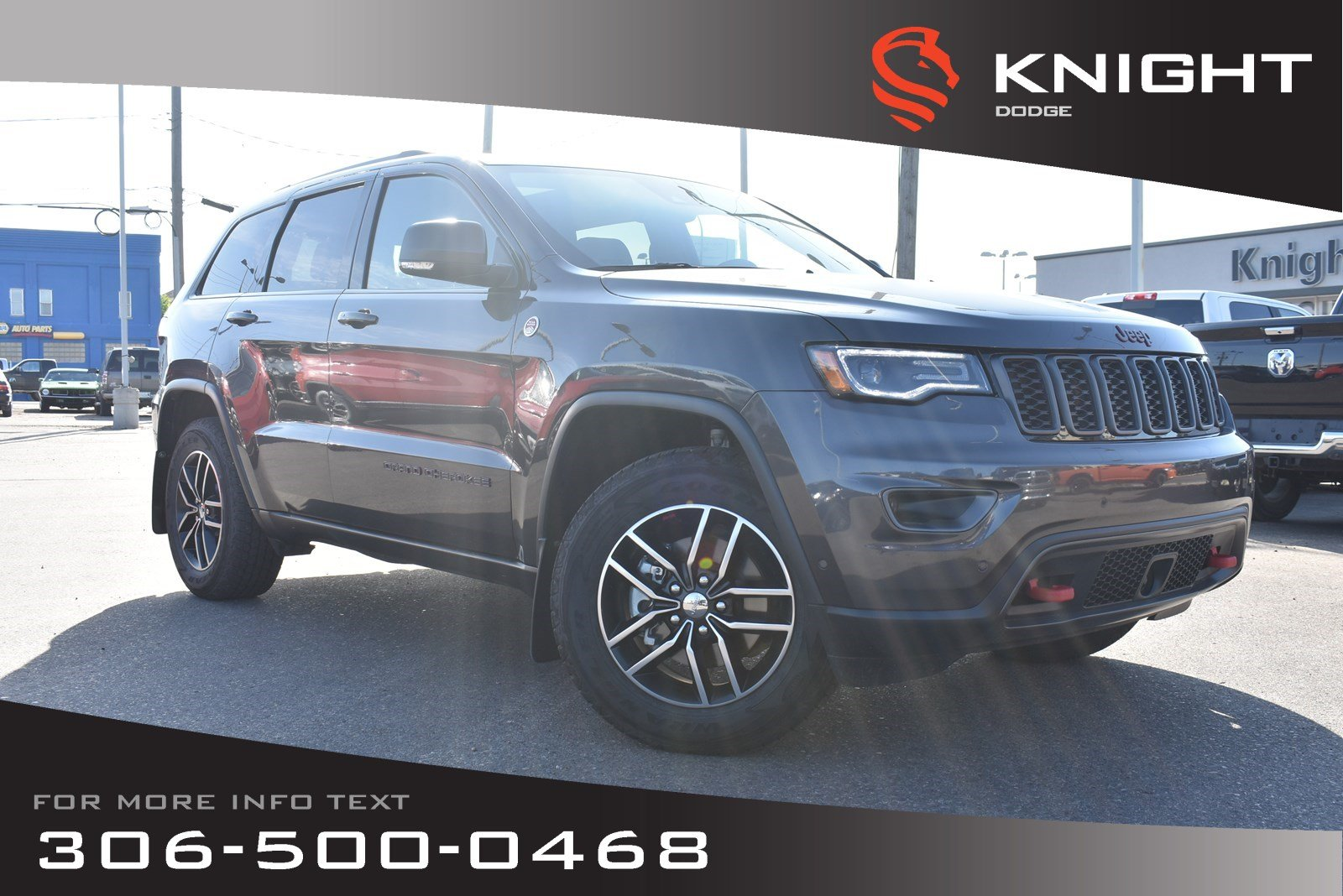 Leather Jeep Seats >> Pre Owned 2018 Jeep Grand Cherokee Trailhawk Leather Heated Cooled Seats Very Low Kms 4wd