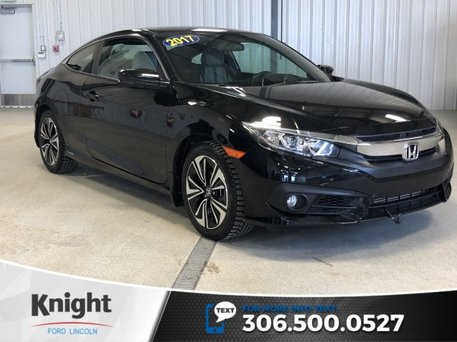 Pre Owned 2017 Honda Civic Coupe Ex T Black Turbo Manual