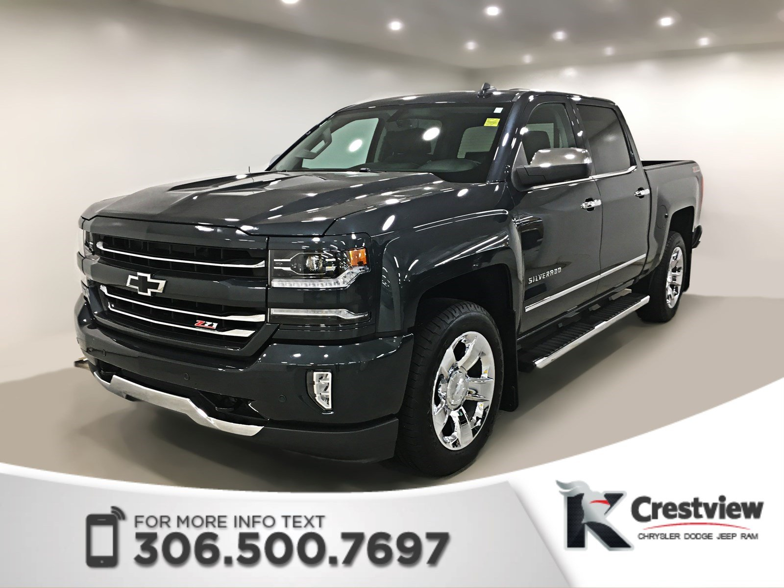 Certified Pre Owned 2017 Chevrolet Silverado 1500 Ltz Crew Cab Leather Remote Start