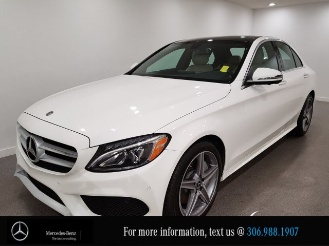 Certified Pre-Owned 2018 Mercedes-Benz C-Class C 300 Locally Owned 360 CAM  AWD